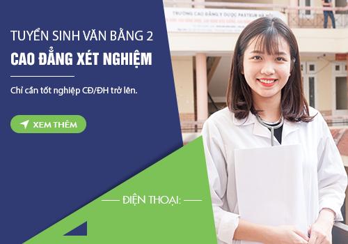 Thông tin tuyển sinh Văn bằng 2 Cao đẳng Xét nghiệm TPHCM năm 2018