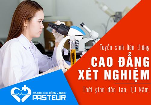 Cao đẳng Y Dược Pasteur đào tạo Kỹ thuật viên Xét nghiệm đúng chuẩn BỘ Y tế