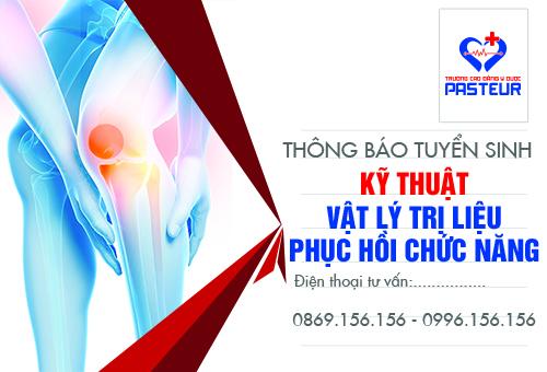 Thông báo tuyển sinh Kỹ thuật Vật lý trị liệu phục hồi chức năng