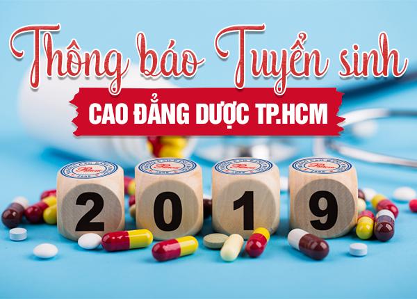 Thông báo tuyển sinh Cao đẳng Dược TP HCM  năm 2019